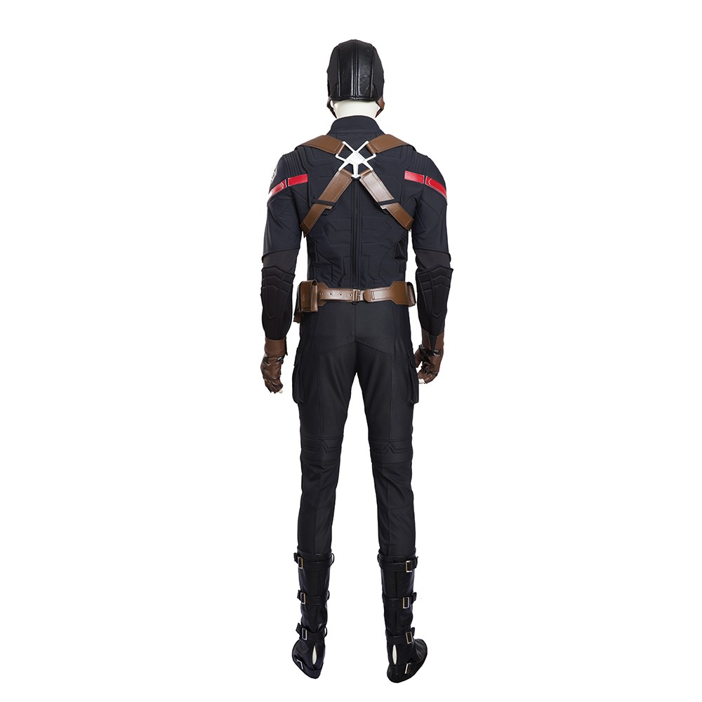 Captain America Hydra Agent Cosplay Costume Full Set Deluxe Costume