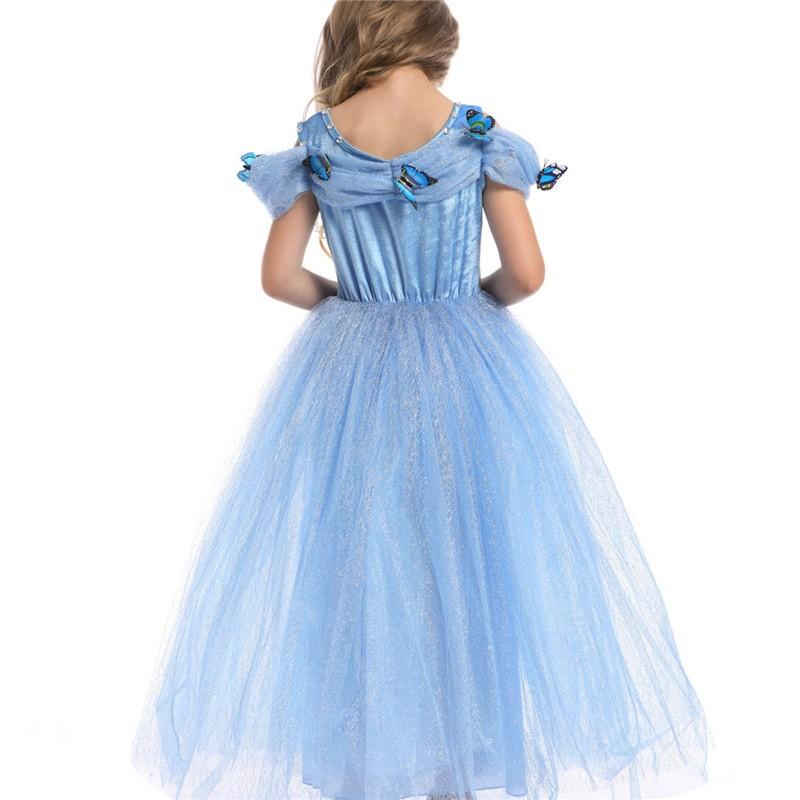 Disney Cinderella Princess Dress Cosplay Dress For Kids