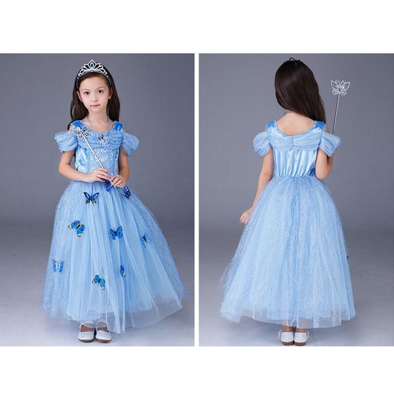 Disney Cinderella Princess Dress Cosplay For Kids