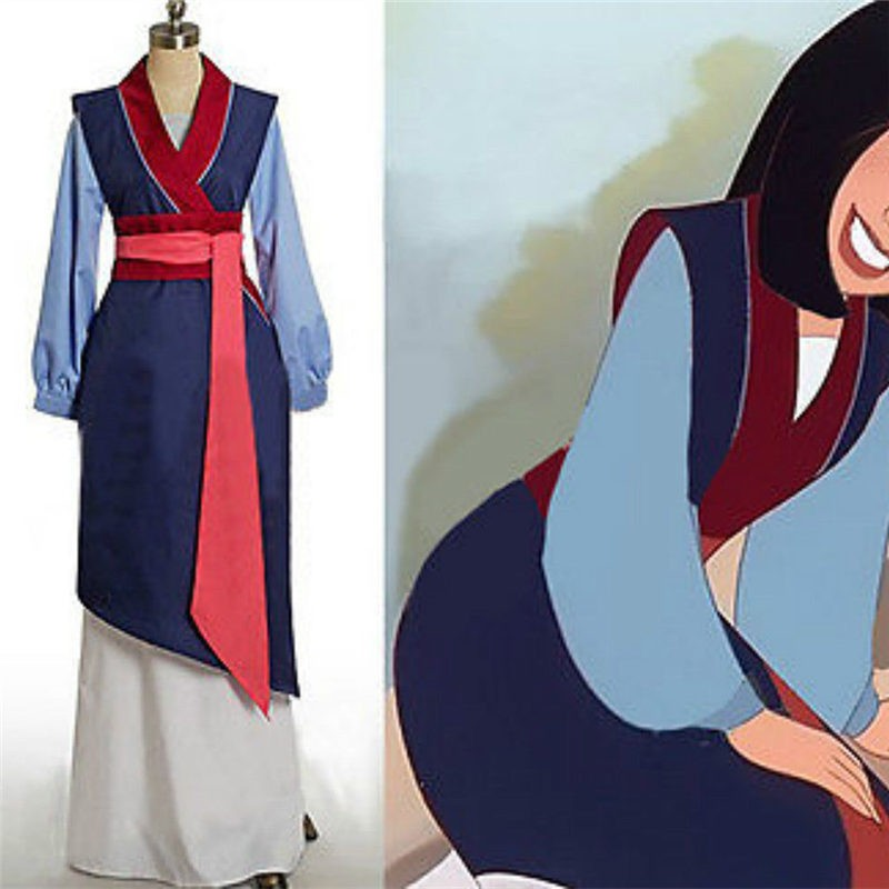 Disney Hua Mulan Dress Cosplay Costume