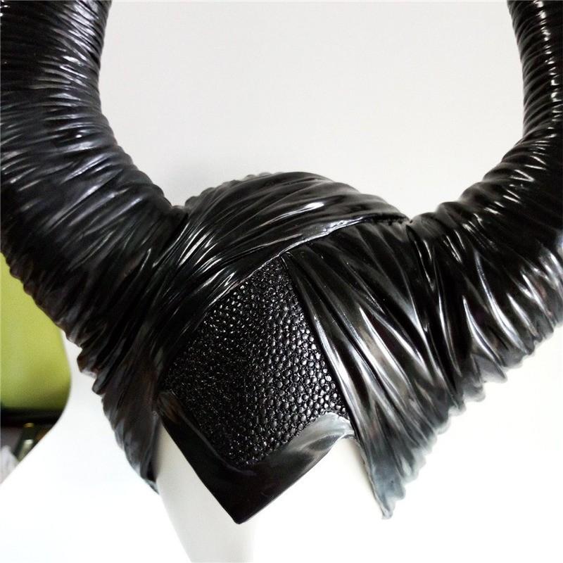 Disney Maleficent Black Witch Angelina Jolie Cosplay Cap Headpiece