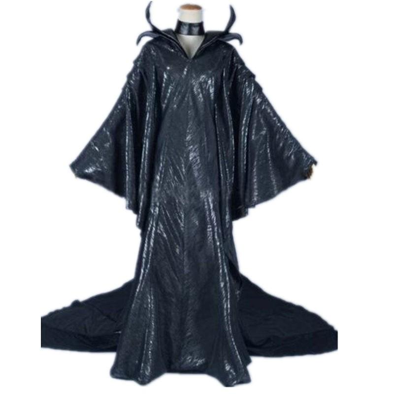 Disney Maleficent Black Witch Dress Cosplay Costume
