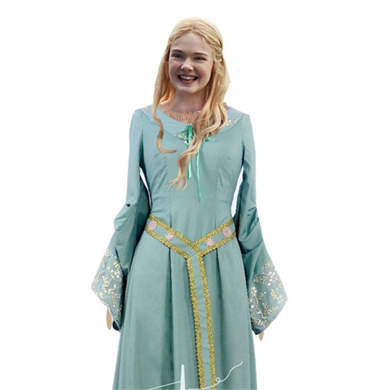 Disney Maleficent Princess Aurora Blue Dress Cosplay Costume