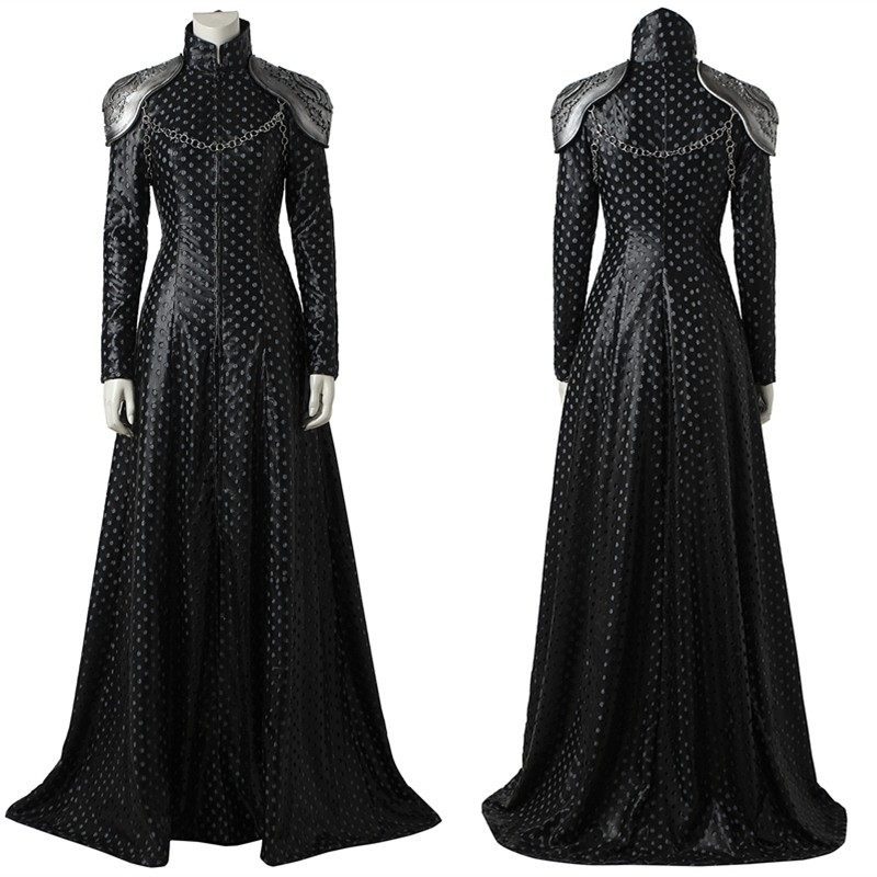 Game of Thrones 7 Cersei Lannister Cosplay Costume Dress Outfit