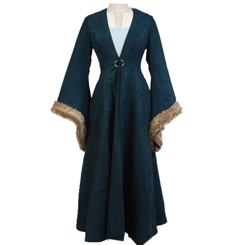 Game of Thrones Catelyn Stark Dress Robe Cosplay Costume