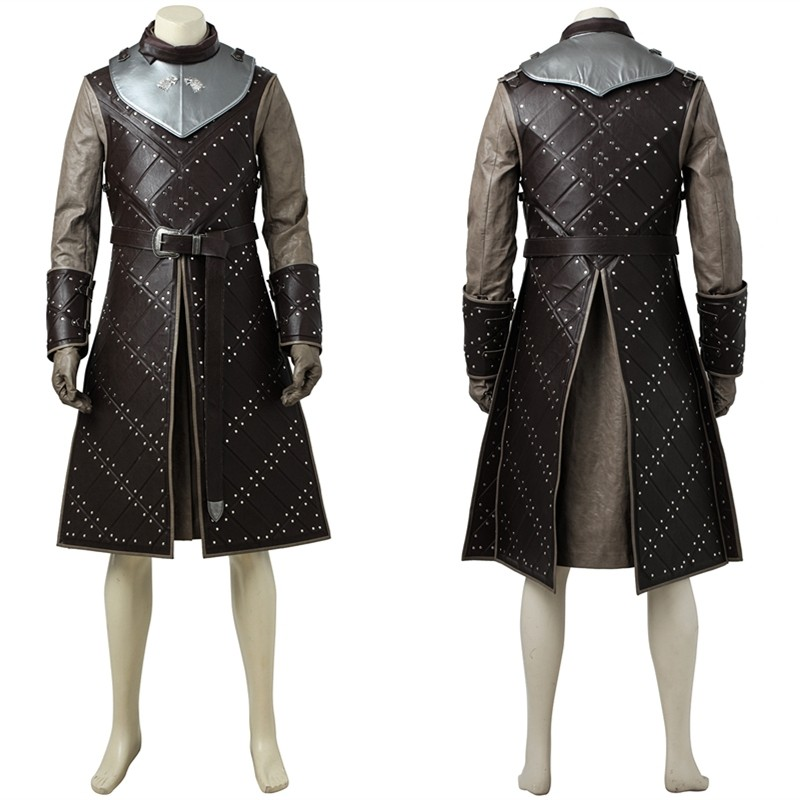Game of Thrones Season 7 Jon Snow Cosplay Costume Deluxe Outfit