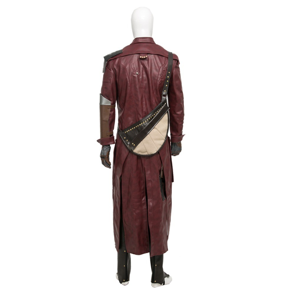 Guardians Of The Galaxy Star Lord Cosplay Costumes Long Coat Deluxe Version