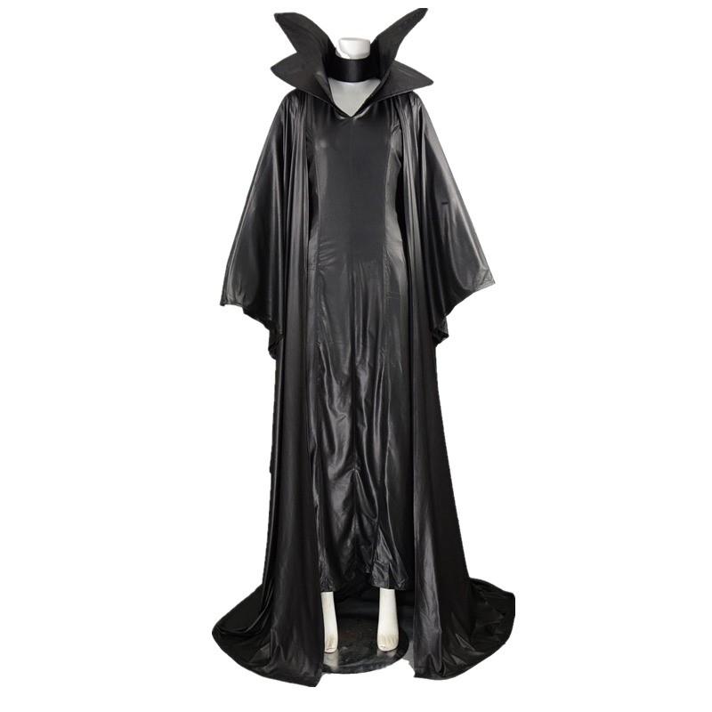 Disney Maleficent Angelina Jolie Black Withch Cloak Dress Cosplay Costume