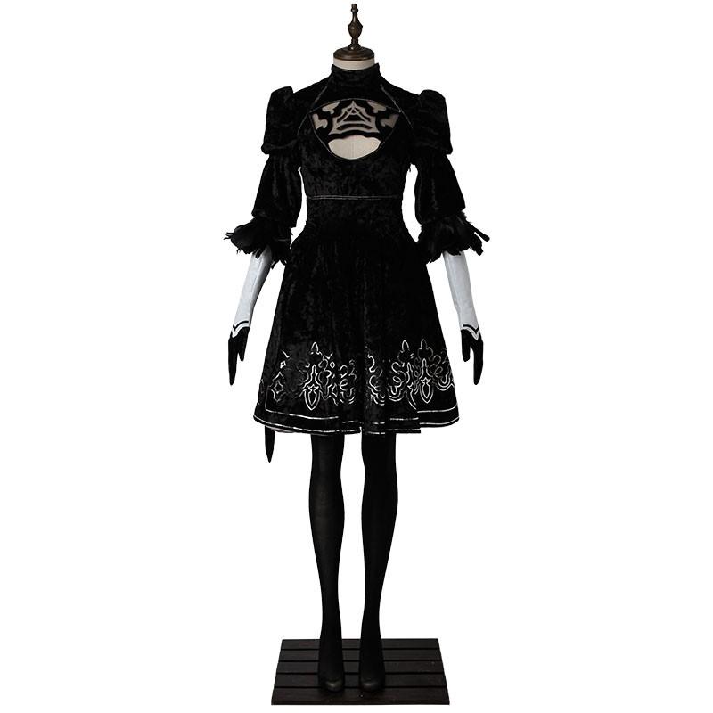 NieR: Automata 2B Costume YoRHa No.2 Type B Cosplay Costume Deluxe