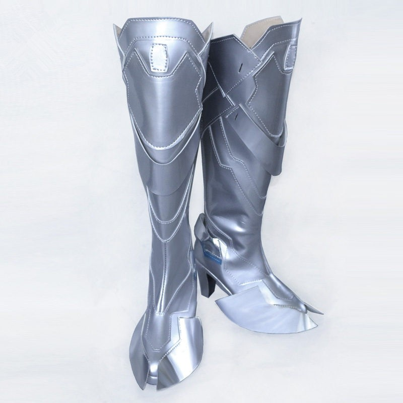 Overwatch Hanzo Shimada Silvery Boots Cosplay Shoes