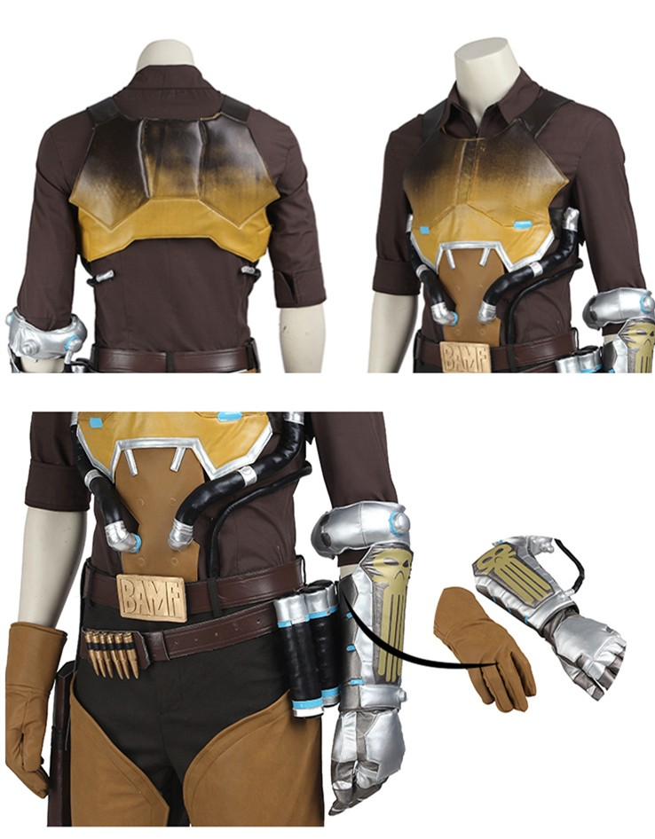 Overwatch Jesse McCree Cosplay Costume Deluxe