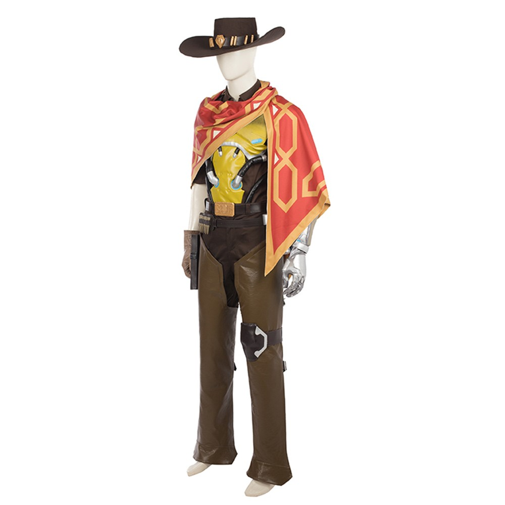 Overwatch Riverboat Jesse McCree Cosplay Costume Deluxe