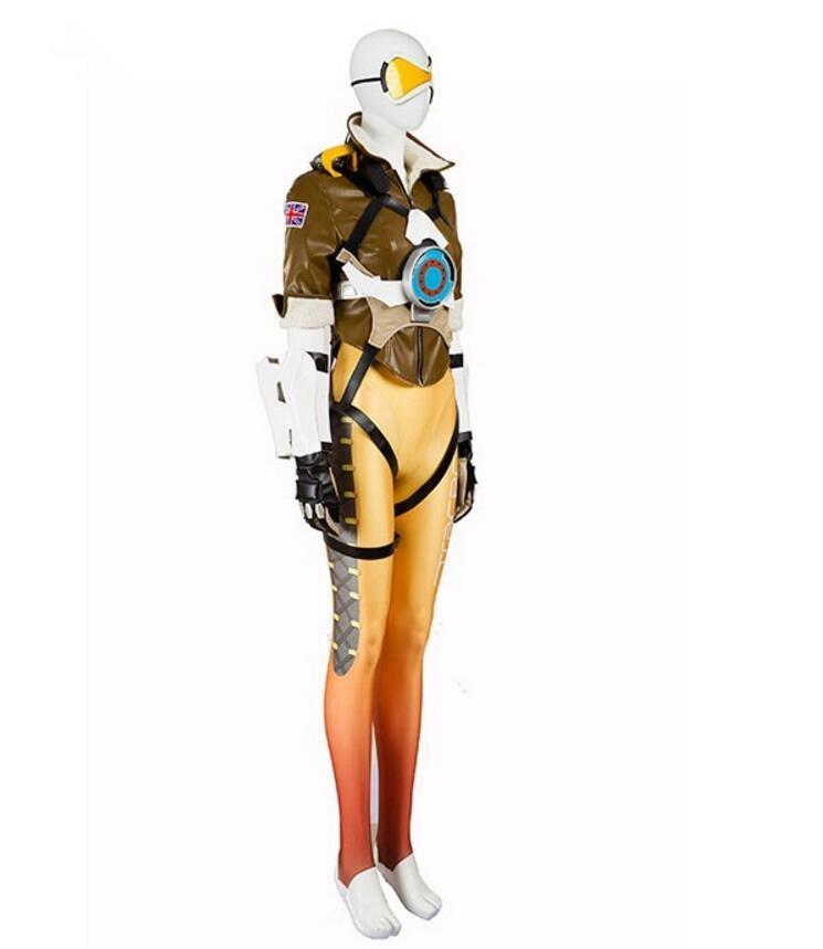 Overwatch Tracer Yellow Cosplay Costume