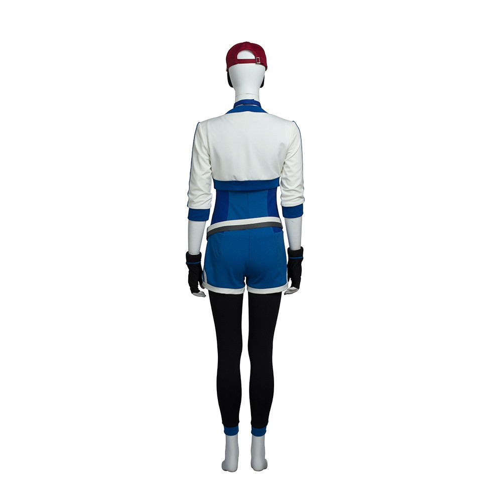Pokemon Go Blue Trainer Cosplay Costume Outfit