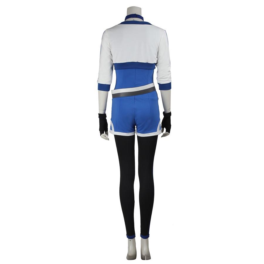 Pokemon Go Female Blue Trainer Team Cosplay Costume