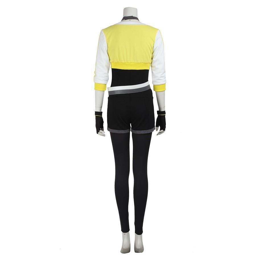 Pokemon Go Female Yellow Trainer Team Cosplay Costume