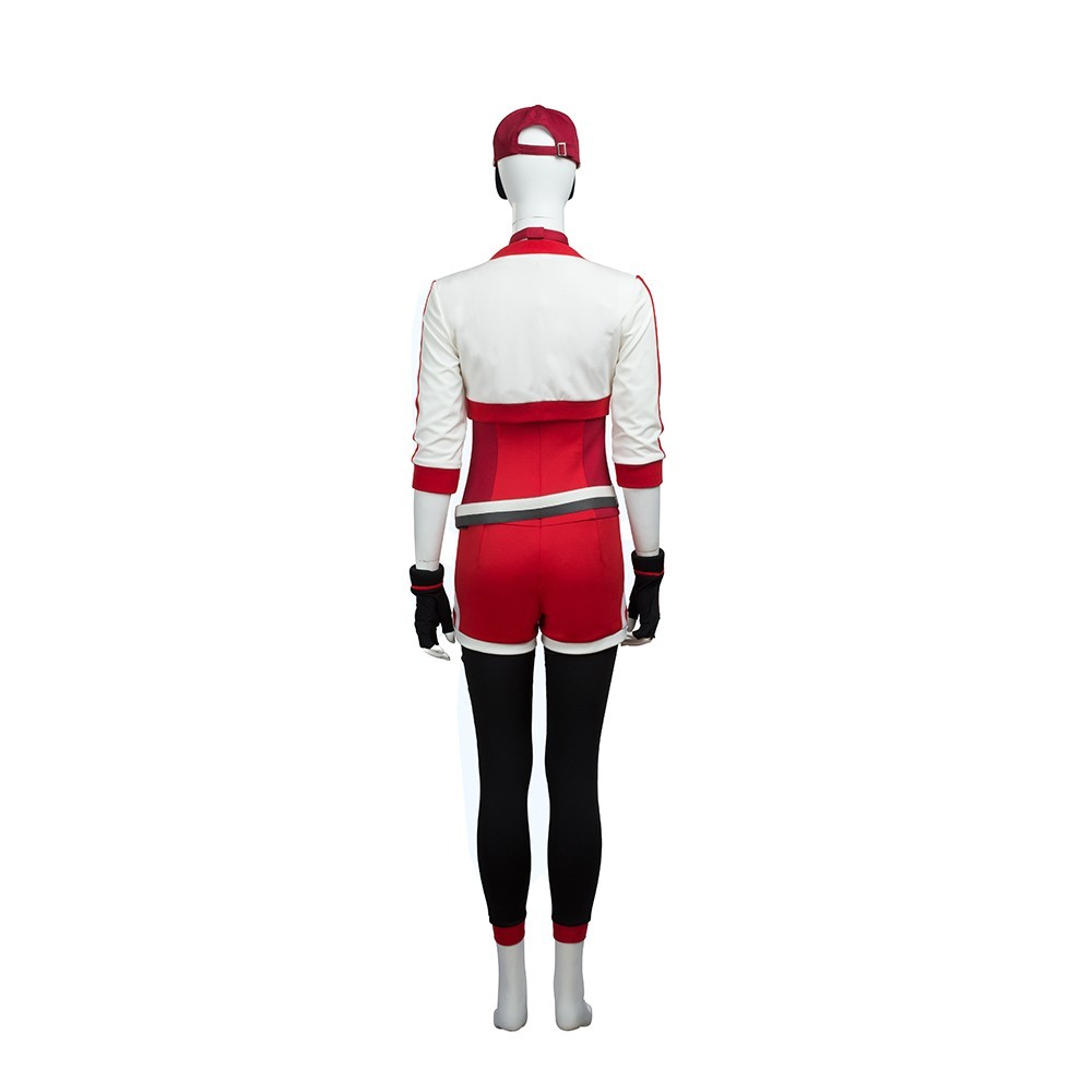 Pokemon Go Red Trainer Cosplay Costume Outfit