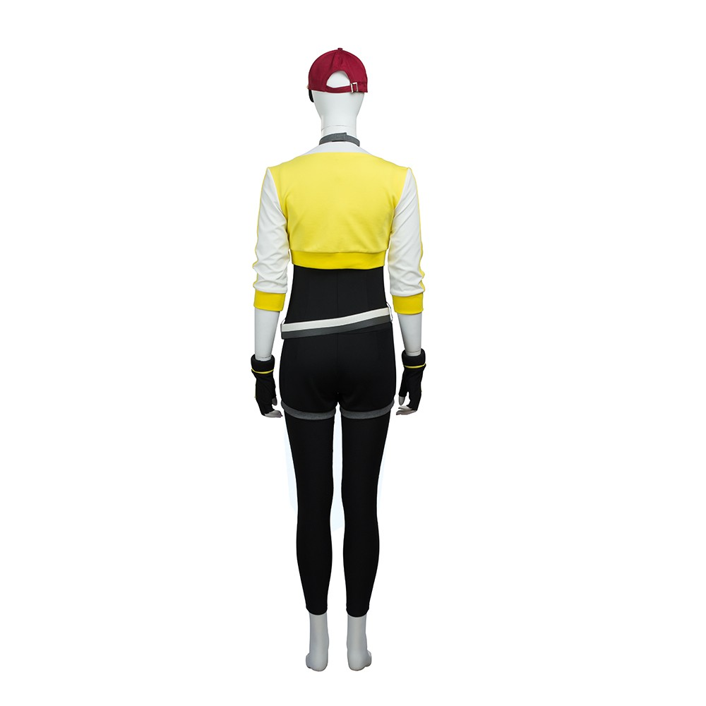 Pokemon Go Yellow Trainer Cosplay Costume Outfit