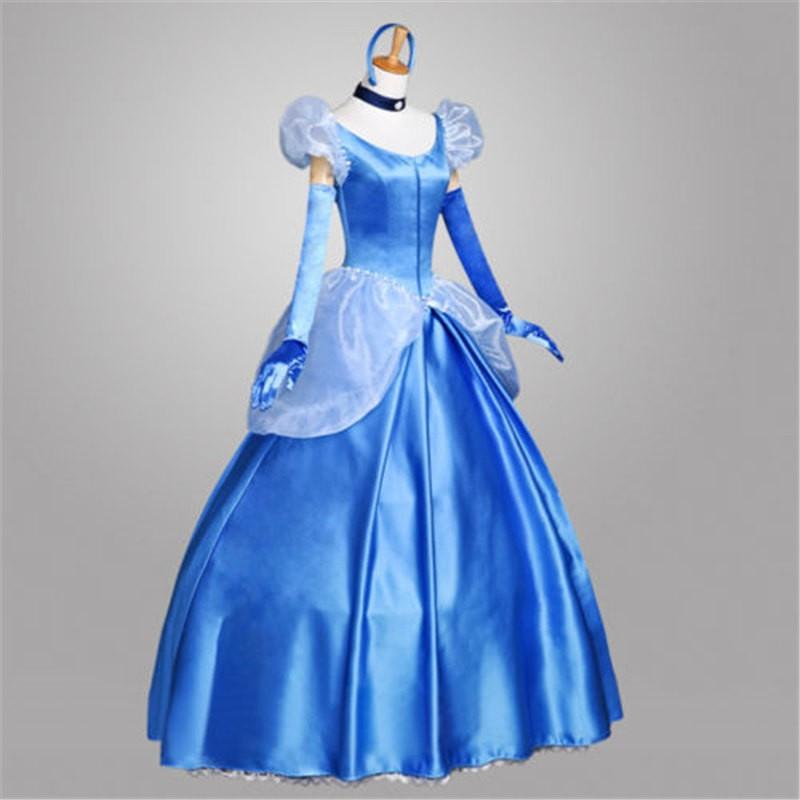 Disney Cinderella Princess Gorgeous Dress Cosplay Costume