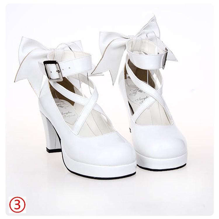 Puella Magi Madoka Magica Lolita Sweet Cosplay Pumps High Heel Shoes
