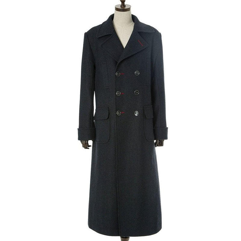 Sherlock Holmes Wool Long Coat Cosplay Costume