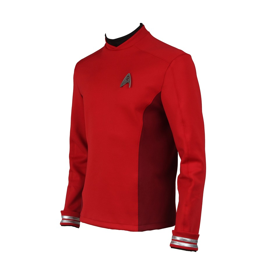 Star Trek Beyond Montgomery Scott Scotty Red Uniform Cosplay Costume