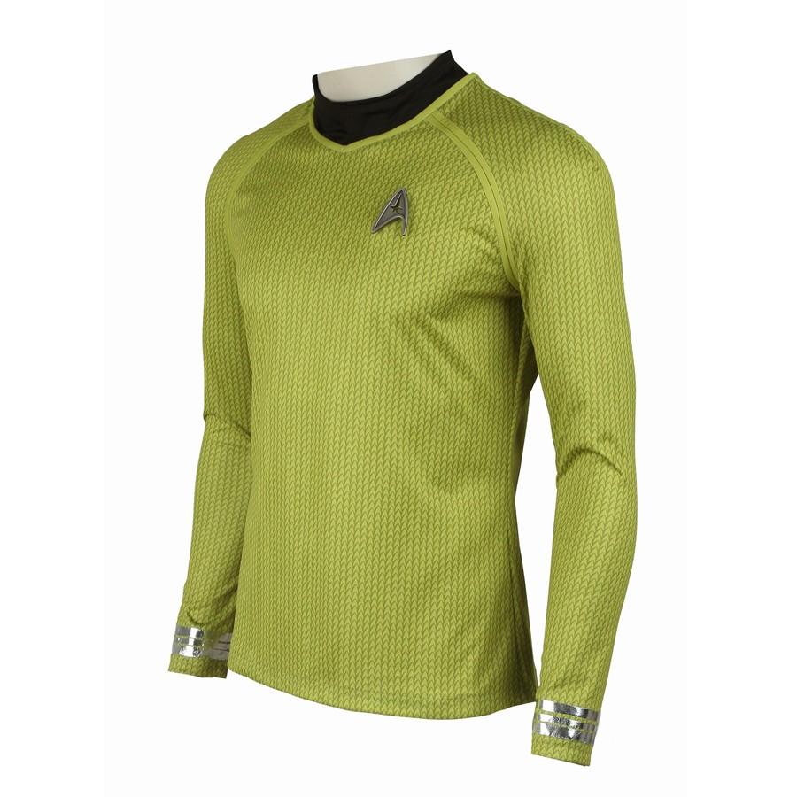 Star Trek Into Darkness James Tiberius Kirk Hikaru Sulu Yellow Uniform Costume