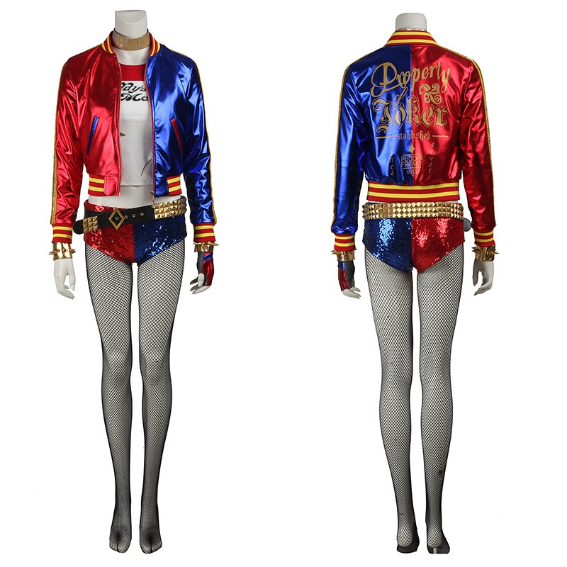 Suicide Squad Harley Quinn Cosplay Costume Deluxe Version