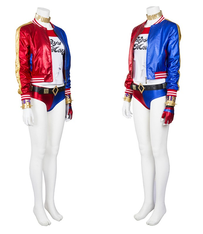 Suicide Squad Harley Quinn Costume Cosplay Full Set - Deluxe Version