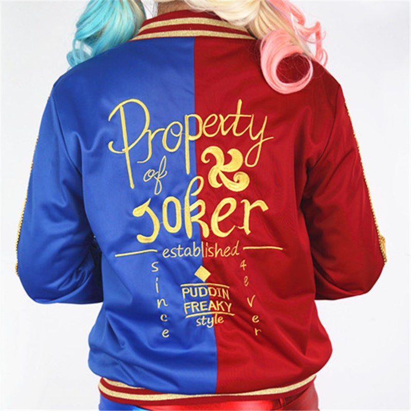Suicide Squad Harley Quinn Jacket Coat Cosplay Costume