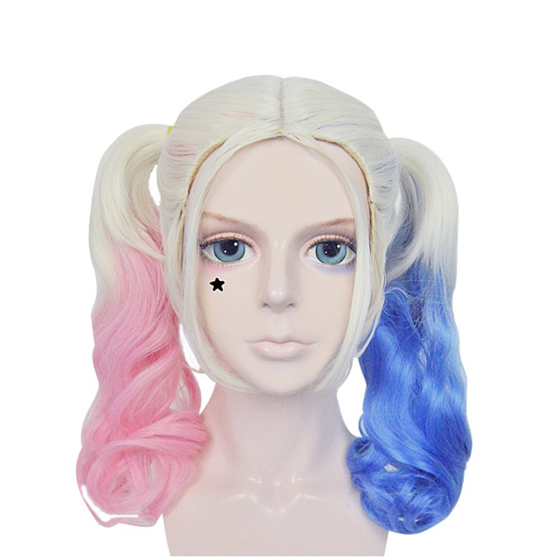 Suicide Squad Harley Quinn Wigs Cosplay