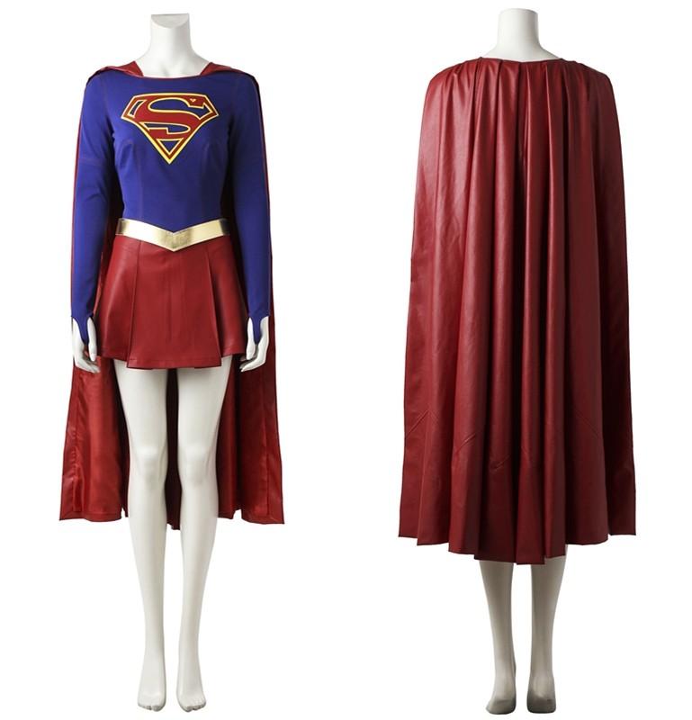 Supergirl Kara Zor-El Danvers Cosplay Costume Deluxe Version