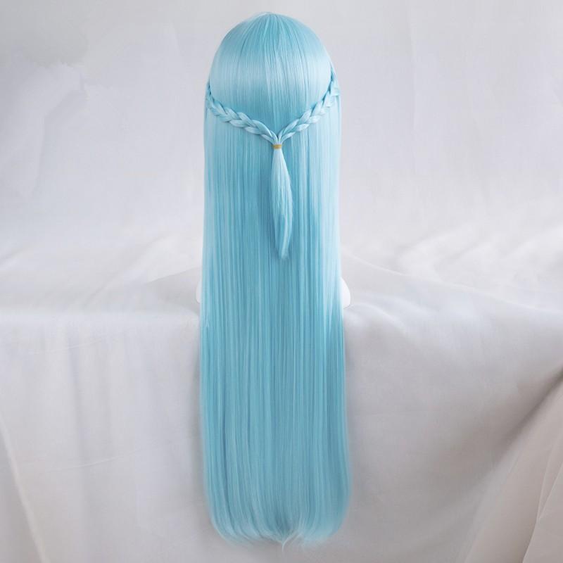 Sword Art Online Asuna Yuuki Blue Long Wigs Cosplay Wigs