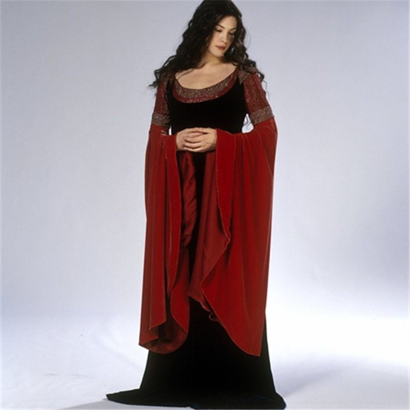The Lord Of The Rings Elf Princess Arwen Dress Cosplay Costume