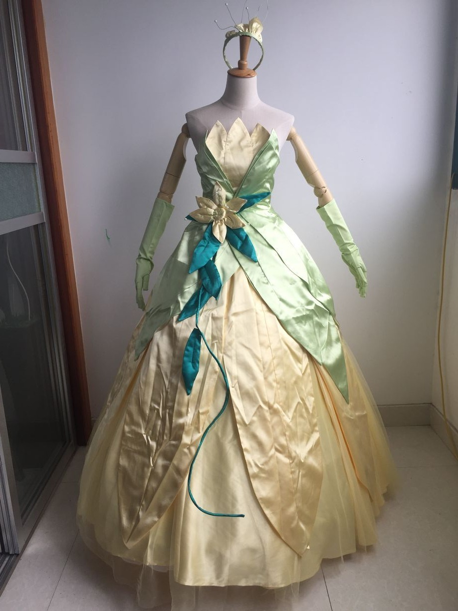 Disney The Princess And The Frog Princess Tiana Dress Deluxe Costume