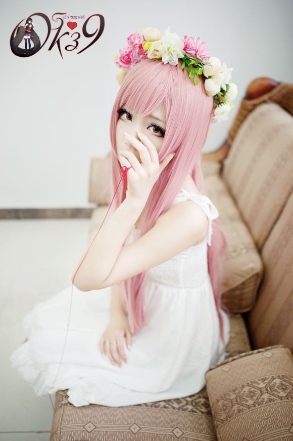 VOCALOID 2 Megurine Luka Long Pink Wigs Cosplay Wigs