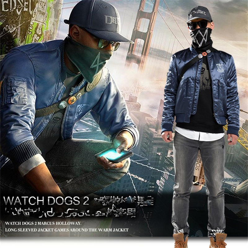Watch Dogs 2 Marcus Jacket Zipper Coat Cosplay