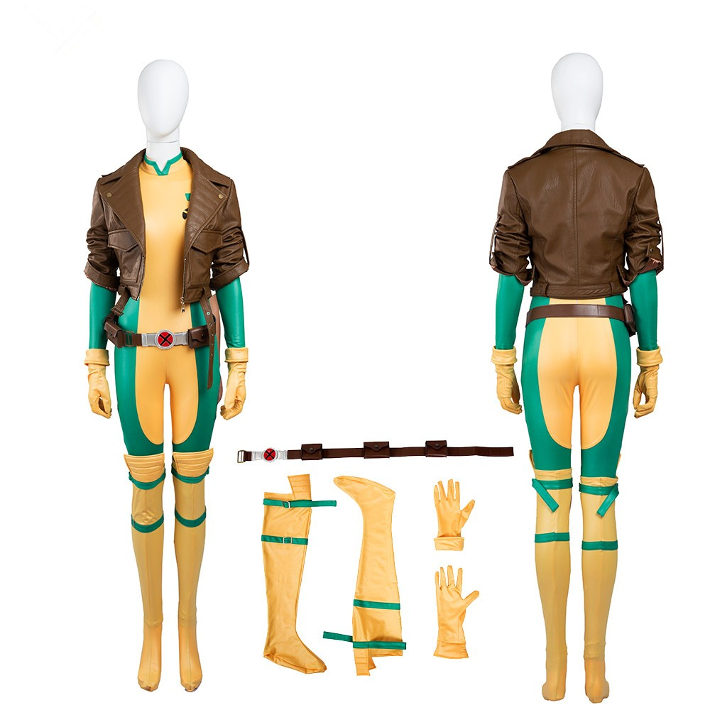 X-Men Rogue Mary Cosplay Costume Deluxe Outfit