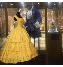 2017 Disney Movie Beauty and The Beast Princess Belle Dress Deluxe Costume