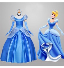 Disney Cinderella Princess Gorgeous Dress Cosplay Costume