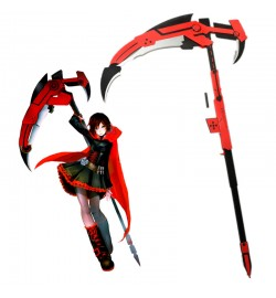 RWBY Red Trailer Ruby High-Caliber Sniper-Scythe HCSS Crescent Rose Cosplay Props