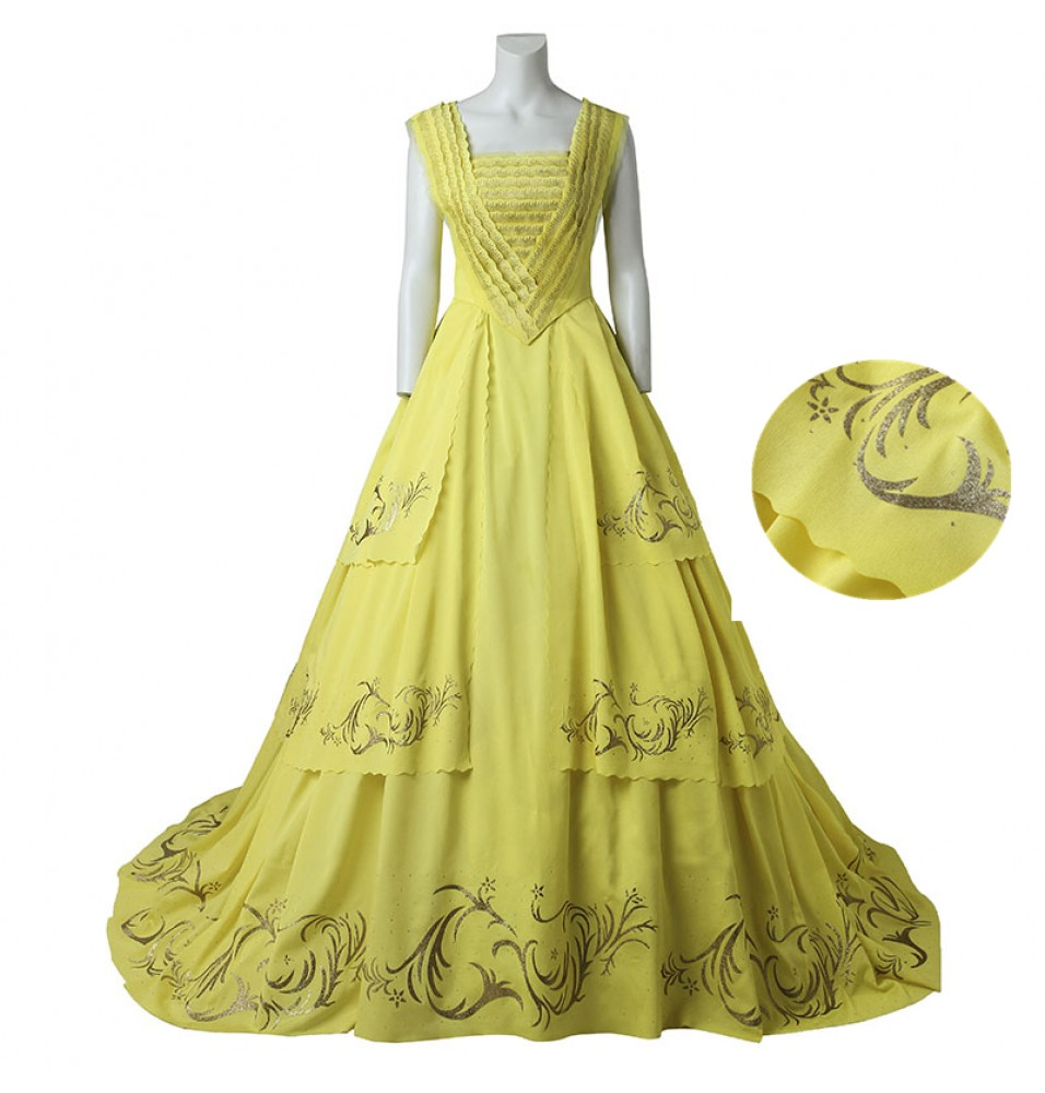2017 Disney Beauty And The Beast Belle Dress Cosplay - Deluxe Version
