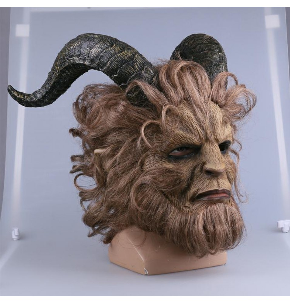 2017 Disney Movie Beauty and the Beast Prince Cosplay Mask Helmet