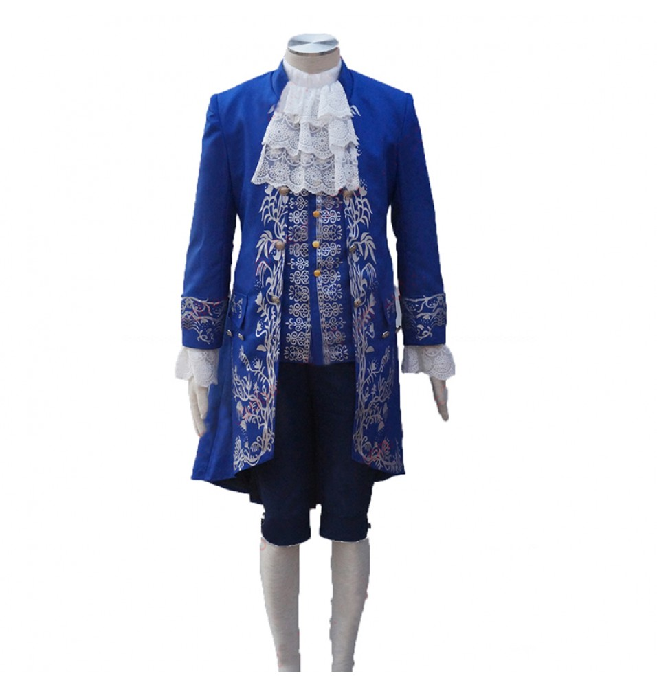 2017 Disney Movie Beauty And The Beast Prince Uniform Costume Cosplay