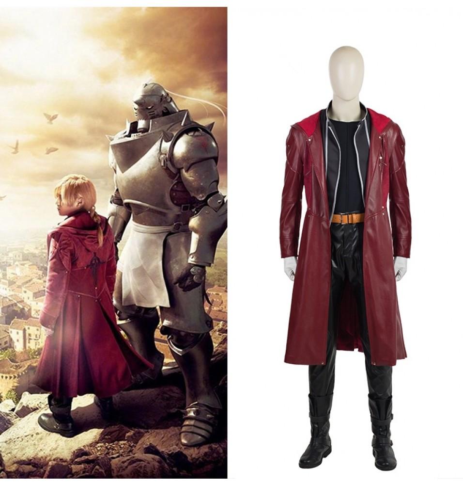 2017 New Fullmetal Alchemist Edward Elric Cosplay Costume Deluxe