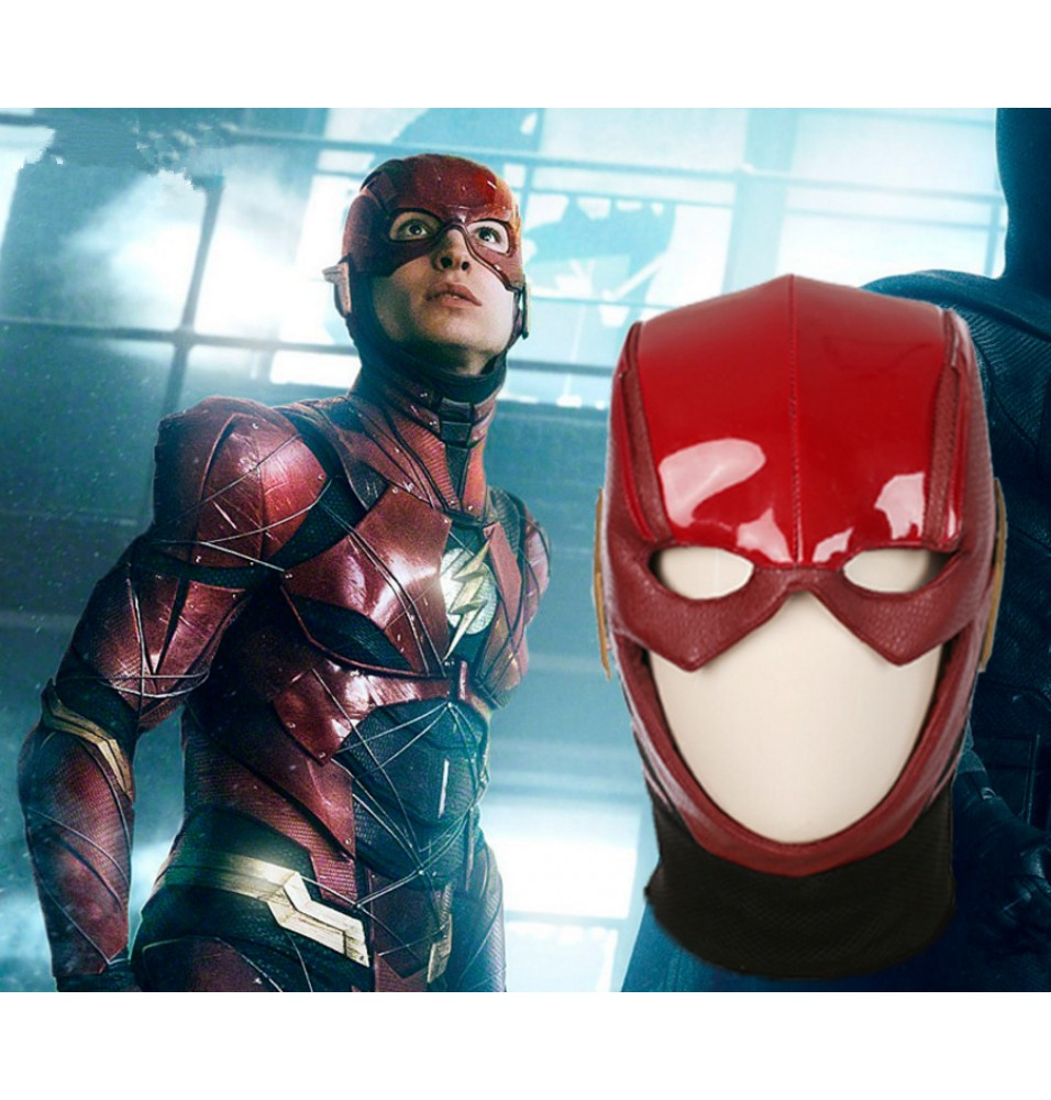2017 New Justice League The Flash Cosplay Mask Helmet