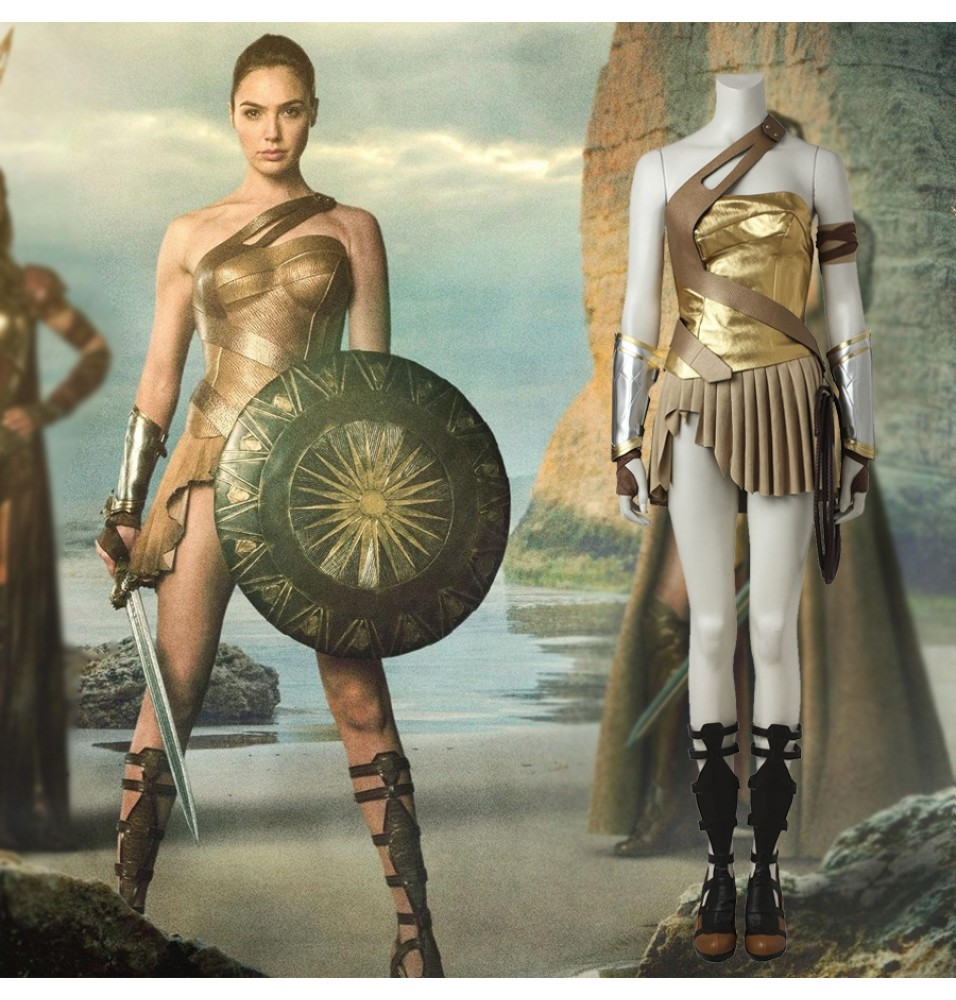 2017 Wonder Woman Princess Diana of Themyscira Cosplay Costume Deluxe Full Set