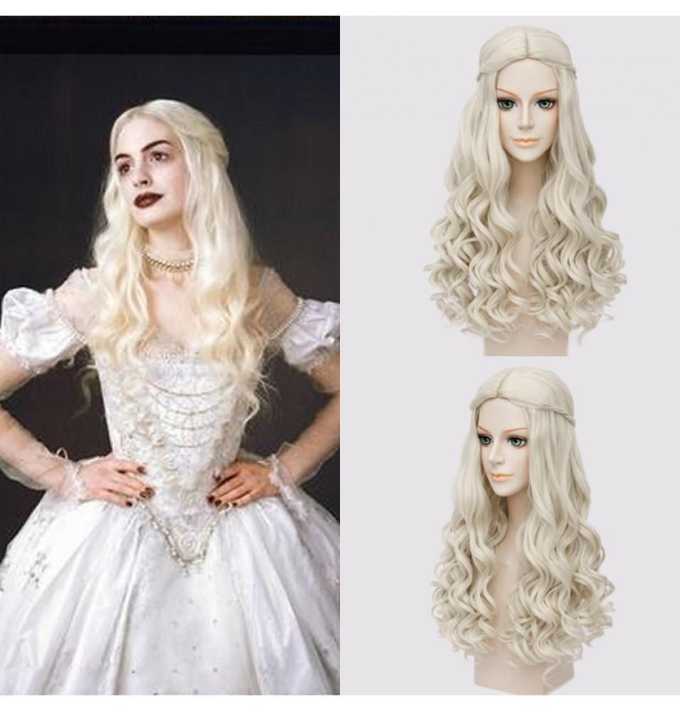 Disney Alice in Wonderland 2 The White Queen Cosplay Wigs