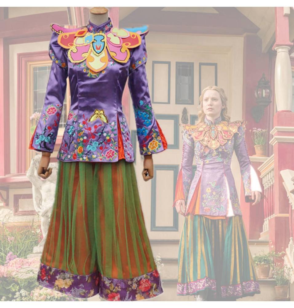 Disney Alice in Wonderland 2 Through the Looking Glass Alice Cosplay Costume