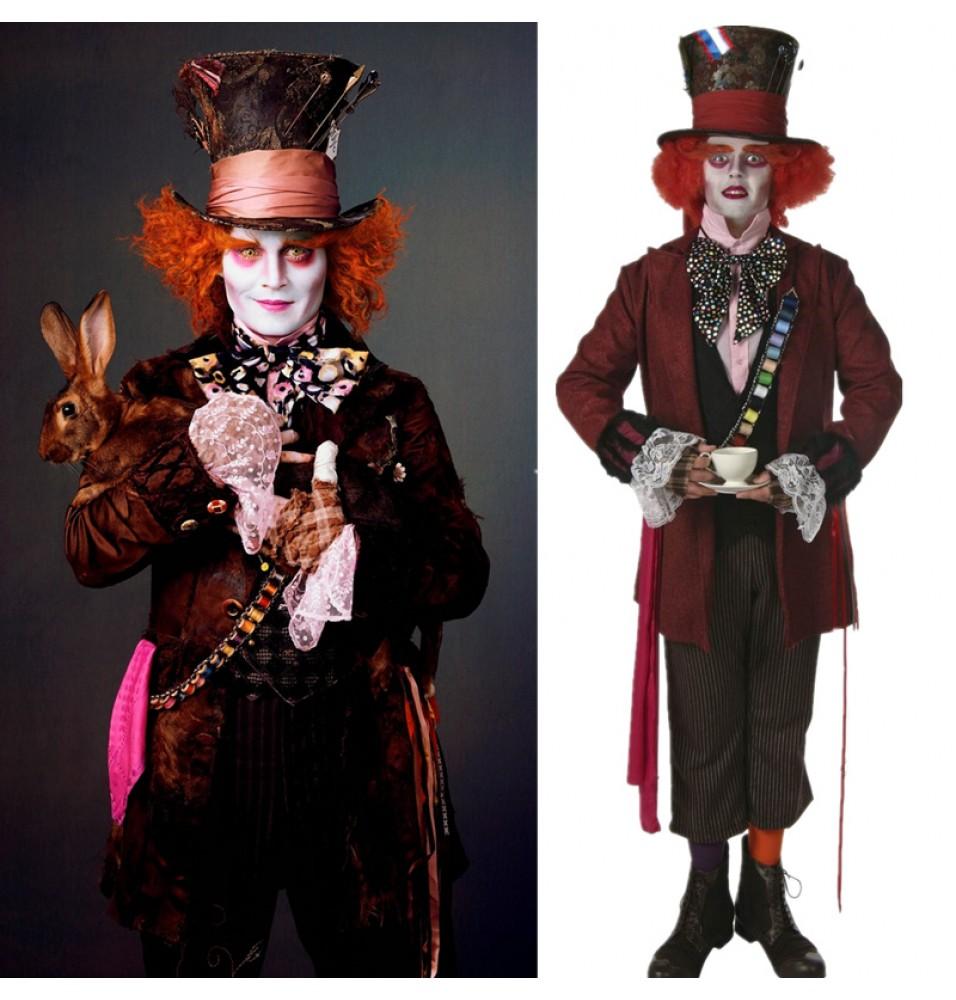 Disney Alice In Wonderland Mad Hatter Cosplay Costumes